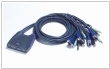 KVM 4/1 CS-64US USB-Audio zintegrowane kable ATEN