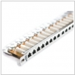 "Patch panel 19"" 0.5U RJ45 24-porty FTP Cat.5e Fibrain"