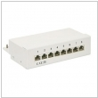 Patch panel 8-port.ekranowany  FTP DESKTOP cat. 5e