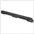 "Patch panel 19"" RJ-45 16 port. UTP 1U Cat5e"